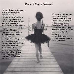 Affiche règles de la danse