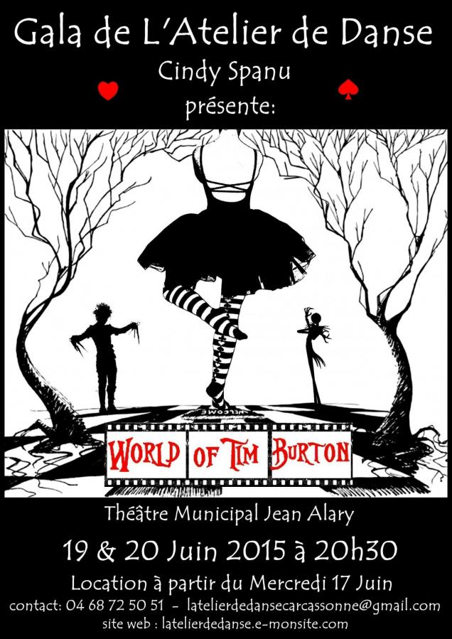 Affiche world of tim burton final 1